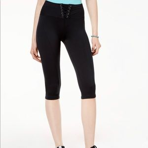 *NWT* Material Girl Active Lace-Up Cropped Legging